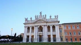 Basilica San Giovanni in Laterano. Dawn, Time Lap stock footage