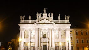 Basilica San Giovanni in Laterano. Night. Rome, I stock video footage