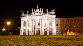 Basilica San Giovanni in Laterano, Nigth. Rome, I stock video