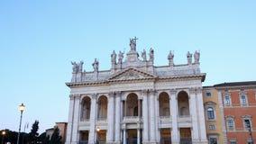 Basilica San Giovanni in Laterano. Sunrise, Time stock video