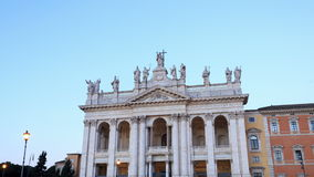 Basilica San Giovanni in Laterano. Zoom, TimeLaps stock video footage