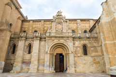 Basilica of San Isidoro. In Leon - Spain Stock Images