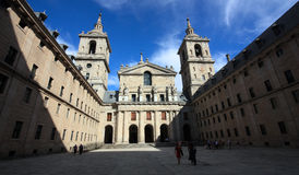 The basilica of San Lorenzo el Real in El Escorial. The basilica of San Lorenzo el Real is the central building in the El Escorial complex, one of the most royalty free stock image