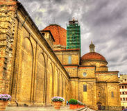 Basilica of San Lorenzo in Florence Stock Photos