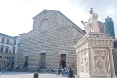 Basilica of san Lorenzo in the historic center of florence Stock Image