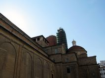 Basilica San Lorenzo is located in the historic part of the city stock image