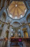 The Basilica of San Lorenzo Maggiore in MIlan, Italy, the interior royalty free stock images