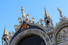 Basilica of San Marco in the City of Venice, Italy royalty free stock images