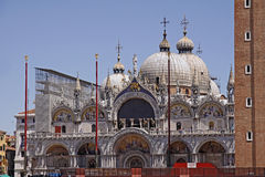 Basilica San Marco, front of Marks Church, Venice Stock Photography