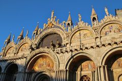 Basilica of San Marco in Venice, Italy. Stock Photo