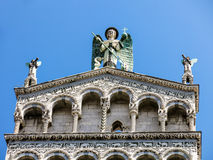 Basilica San Michele in Foro in Lucca, Italy Stock Photography