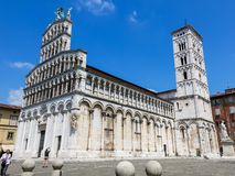 Basilica San Michele in Foro in Lucca, Italy Royalty Free Stock Photo