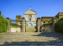 Basilica San Miniato al Monte in Florence or Firenze, church in Stock Photos