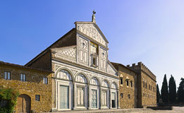 Basilica San Miniato al Monte in Florence or Firenze, church in Stock Photo