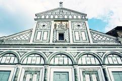 Basilica San Miniato al Monte, Florence, Italy, blue filter Royalty Free Stock Photo