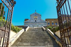 Basilica San Miniato al Monte in Florence, Italy Royalty Free Stock Photography