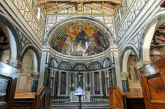 Basilica of San Miniato al Monte. Internal view of the beautiful church in Florence Stock Images