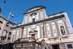 Basilica of San Paolo Maggiore in Naples. Facade of Basilica of San Paolo Maggiore in Naples, Italy royalty free stock photography