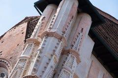 The Basilica of San Petronio, Bologna - Italy. A detail in the facade of the Basilica of San Petronio, Bologna - Italy Stock Photography