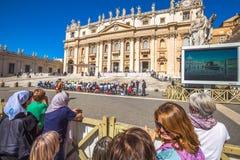 Basilica San Pietro Rome Immagine Stock