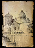 Basilica San Pietro in Rome, Italy Stock Image