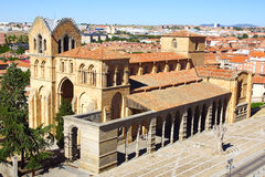 Basilica of San Vicente.  Avila Stock Images
