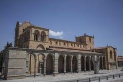 Basilica of San Vicente, Avila, Spain stock image