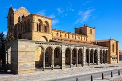 Saint Vincent`s Basilica in the city of Avila, Spain Stock Images