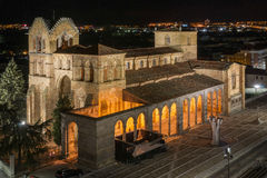 Basilica of San Vicente Night Royalty Free Stock Images