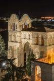 Basilica of San Vicente Night Royalty Free Stock Photo