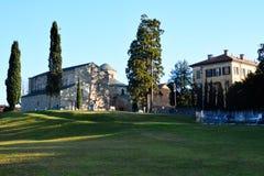 Basilica of San Vincenzo. General view of Basilica of San Vincenzo at Galliano - Cantù, Como, Lombardy, Italy Royalty Free Stock Photography