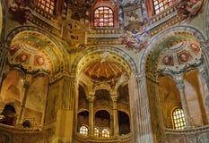 Basilica of San Vitale - Ravenna. Gallery ambulatory of the Basilica of San Vitale - Ravenna, Italy stock photos