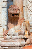 Basilica of San Zeno Verona - Marble Lion Royalty Free Stock Image