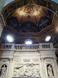 The Basilica of the Sanctuary of the Holy House of Loreto in Ita. Internal view of the Basilica of the Sanctuary of Loreto. Marche region, central Italy stock images