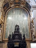 The Basilica of the Sanctuary of the Holy House of Loreto in Ita. Internal view of the Basilica of the Sanctuary of Loreto. Marche region, central Italy royalty free stock image