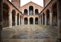 Basilica of Sant'Ambrogio (379-386), Milan, Italy. Stock Photography