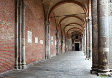 Basilica of Sant'Ambrogio (379-386), Milan, Italy. Stock Photos