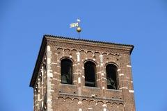 Basilica sant'ambrogio church milan,milano bell tower Stock Photography