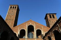 Basilica sant'ambrogio church milan,milano expo2015 Royalty Free Stock Images