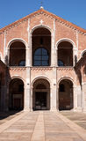 Basilica of sant'Ambrogio in Milan (Italy) Stock Images