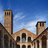 Basilica of Sant'Ambrogio - Milan - Italy Royalty Free Stock Images