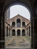 Basilica of Sant Ambrogio, Milan,  Italy Stock Images