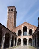 Basilica of Sant'Ambrogio in Milan, Italy Stock Photography