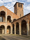 Basilica of Sant Ambrogio in Milan, Italy Stock Photos