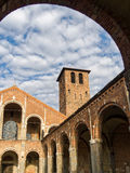 Basilica of Sant Ambrogio in Milan, Italy Royalty Free Stock Image