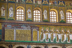 Basilica of Sant Apollinare Nuovo, Ravenna. Italy Royalty Free Stock Images