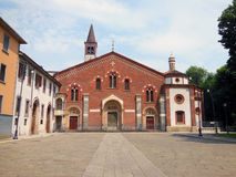 Basilica. Of Sant'Eustorgio, a church in Milan, Italy Royalty Free Stock Photos