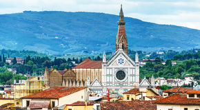The Basilica of Santa Croce (Basilica of the Holy Cross) in Flor Stock Photo