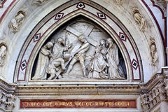 Basilica Santa Croce Cross Mosaic Facade Florence Royalty Free Stock Images