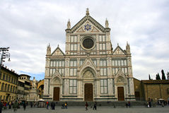 The Basilica of Santa Croce Florence Stock Images
